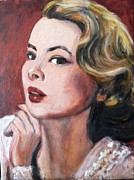 Silver Screen Legends Paintings - Grace Kelly by Gerald Hubert