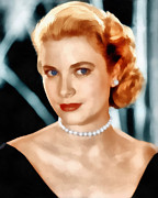 Joseph Frank Baraba Digital Art Prints - Grace Kelly Print by Joseph Frank Baraba
