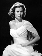 Kelly Framed Prints - Grace Kelly Poster Framed Print by Sanely Great