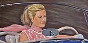 Alfred Hitchcock Paintings - Grace Kelly - To Catch a Thief by Kevin Hughes