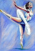 Dancer Art Pastels Prints - Grace Print by Michael Alvarez