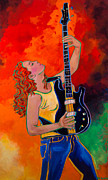 Playing Music Painting Originals - Grace On The Bass by Terri Haugen
