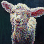 Lamb Painting Posters - Grace Poster by Patricia A Griffin