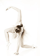 Dancer Art Photo Posters - Graceful Ballet Dancer  Poster by Jt PhotoDesign