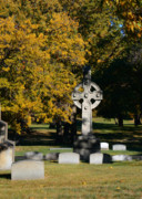 Headstones Prints - Graceland Cemetery Chicago - Tomb of John W Root Print by Christine Till