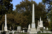 Resting Metal Prints - Graceland Chicago - The Cemetery of Architects Metal Print by Christine Till