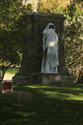 Cemeteries Photos - Graceland Chicago - The place where the spirits roam by Christine Till
