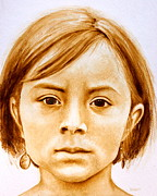 Native American Spirit Portrait Paintings - Gracie by Julee Nicklaus