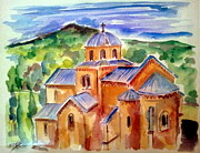 Orthodox Painting Framed Prints - Gradac Monastery Framed Print by Roberto Gagliardi