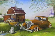 Rat Rod Painting Posters - Grade A  Poster by Whitey Thompson