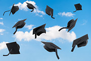 Featured Art - Graduation Mortar Boards by Christopher and Amanda Elwell