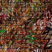 Mosaic Mixed Media - Graffiti Abstract by Mr Ds Abstract Adventures