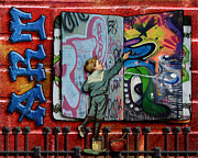 Graffiti Wall Art Posters - Graffiti Artist Poster by Karen  Burns