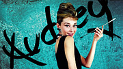 Audrey Hepburn Photos - Graffiti - Audreys Elegance by Graffiti Girl