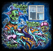 Monster Photo Prints - Graffiti City Print by Evelina Kremsdorf