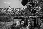City Scapes Photos - Graffiti Downtown Austin Texas by Mark Weaver