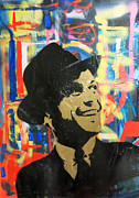 Frank Sinatra Mixed Media Originals - Graffiti Frank Sinatra by Paul Rolfes