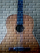 Music Lovers - Graffiti Guitar by Hanza Turgul