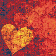 Featured Digital Art - Graffiti Hearts by Marsha Charlebois