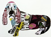 Dachshund  Art Mixed Media - Graffiti Hound  by Brian Buckley