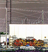 Tag Digital Art - Graffiti - Industrial Graff by Graffiti Girl