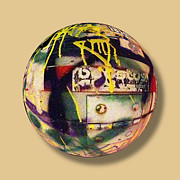 Warp Prints - Graffiti Orb 2 Print by Tony Rubino