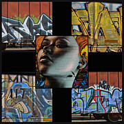 Nude Girl Art - Graffiti - Perspective Collage by Graffiti Girl