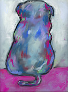 Graffiti Pastels Prints - Graffiti Pug Print by Christine Callahan