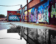 Tagging Prints - Graffiti Reflection Print by Sonja Quintero