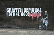 Removal Prints - Graffiti Removal Hotline Print by A Rey