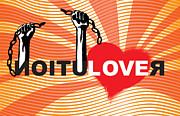 Sassan Filsoof - Graffiti style illustration slogan Love Revolution