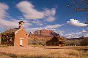 Butch Cassidy Photo Prints - Grafton Ghost Town and Approaching Winter Storm Rockville Utah Print by Robert Ford