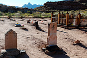 Butch Cassidy Photo Prints - Grafton Ghost Town Cemetery Rockville Utah Print by Robert Ford