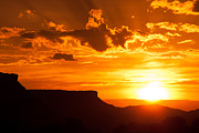 Geobob Metal Prints - Grafton Mesa Sunset Rockville Utah Metal Print by Robert Ford
