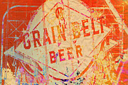 Uptown Digital Art Prints - Grain Belt Beer Abstract Print by Susan Stone