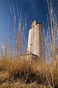 Farmland Photo Metal Prints - Grain Elevator Metal Print by Peter Tellone