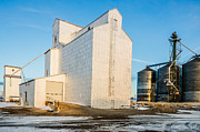 Sue Smith Prints - Grain Elevators and Silos Print by Sue Smith