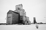 Sask Prints - grain elevators Kamsack Saskatchewan Canada Print by Joe Fox
