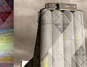 Agriculture Digital Art Originals - Grain Silo by Sandy MacNeil