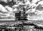 Chatham Prints - Grain Tower battery mono Print by Ian Hufton