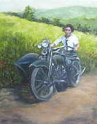 1920s Originals - Gramma and the Harley by Connie Schaertl
