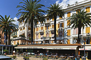 Northern Italy Photos - Gran Cafe Rapallo by George Oze