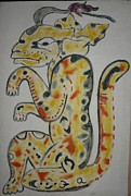 Mayan Character Metal Prints - Gran Jaguar Metal Print by Juan Francisco Zeledon