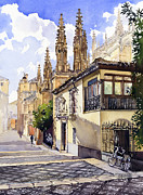 Margaret Merry Prints - Granada Cathedral Print by Margaret Merry