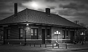Depot Prints - Granbury Depot At Night Print by Robert Frederick