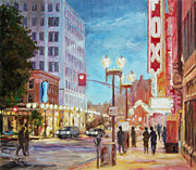 Louis Paintings - Grand Boulevard St.Louis by Irek Szelag
