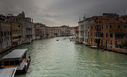 Venice Pyrography Posters - Grand Canal at Dusk Poster by Paul Szudzik