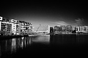 Property Prints - Grand Canal Dock In Redeveloped Docklands Dublin Republic Of Ireland Print by Joe Fox