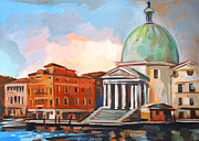 Italian Landscape Painting Originals - Grand Canal by Filip Mihail