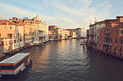 Vaporetto Framed Prints - Grand canal from Accademia bridge in Venice Framed Print by Matteo Colombo
